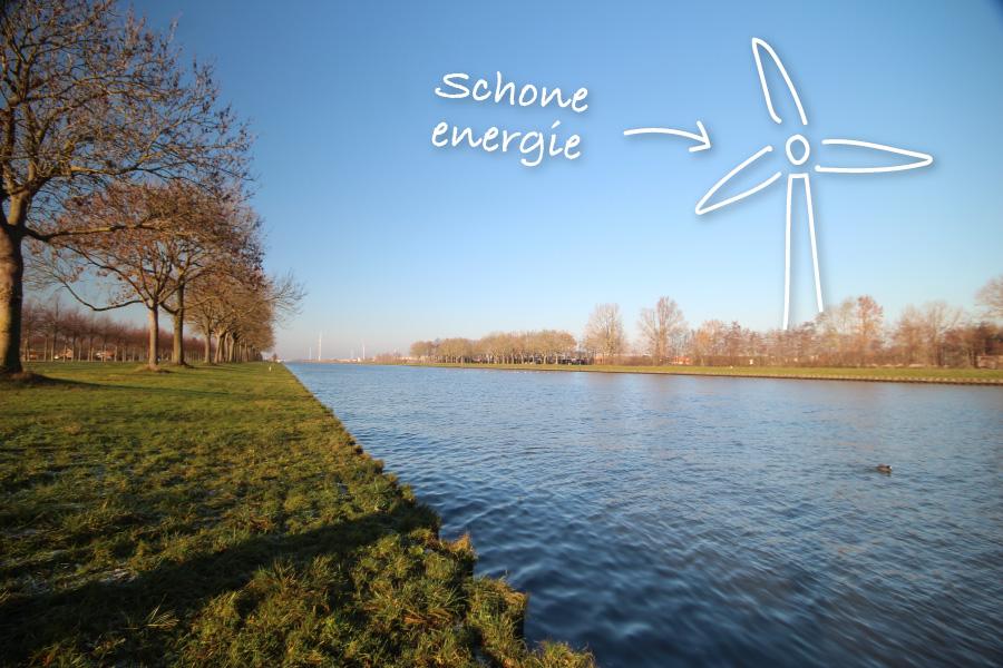 windmolen windturbine de ronde venen Amstedams Rijnkanaal