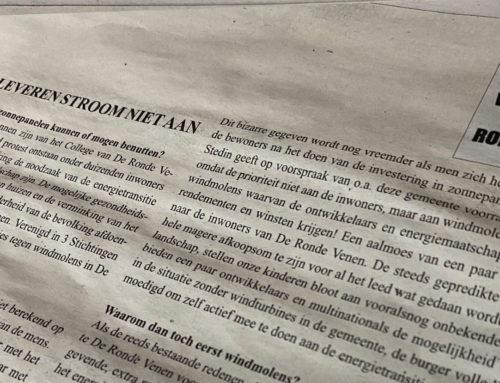 De tegenstanders van windmolens in De Ronde Venen hebben weer een 'nieuw' argument bedacht.